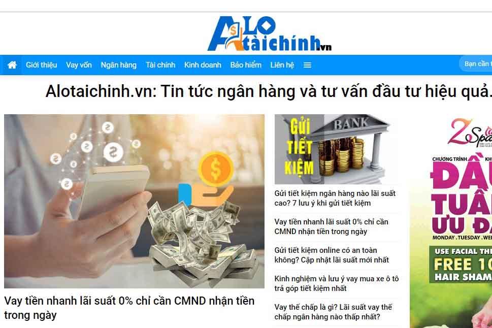 web tài chính